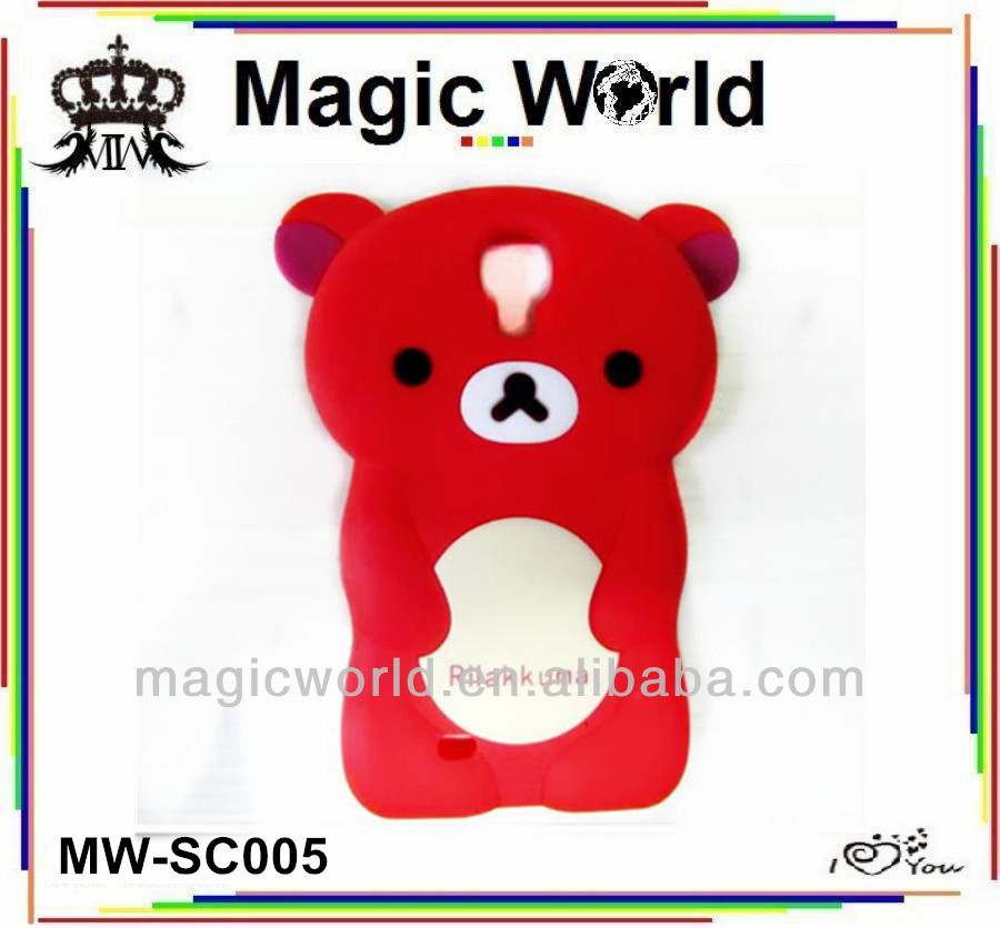 Bear 3D Silicone Mobile Phone Cases For iPhone For Samsung