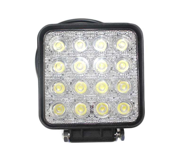 Hongjin Manufacturer 12V 48W waterproof vehicles offroad led work light for SUV Cars