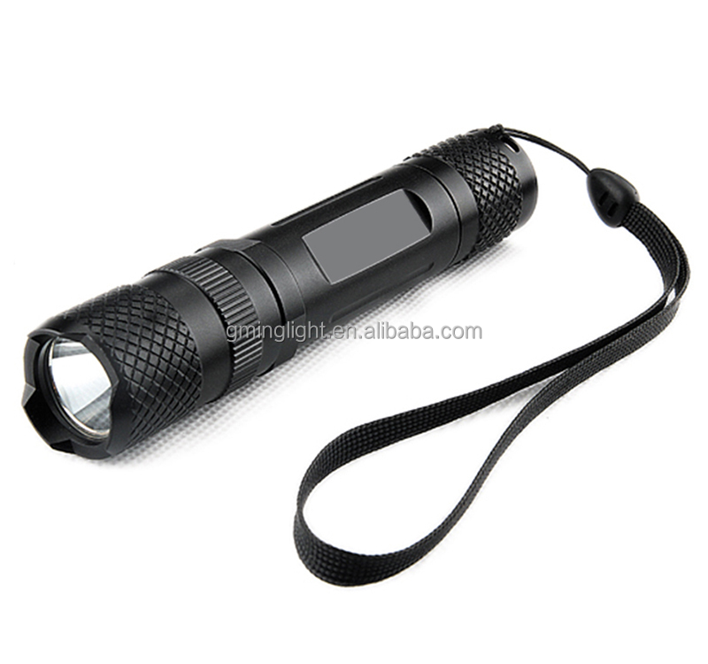 2017 New Arrival Easy to carry mouth led flashlight wide angle streamlight type