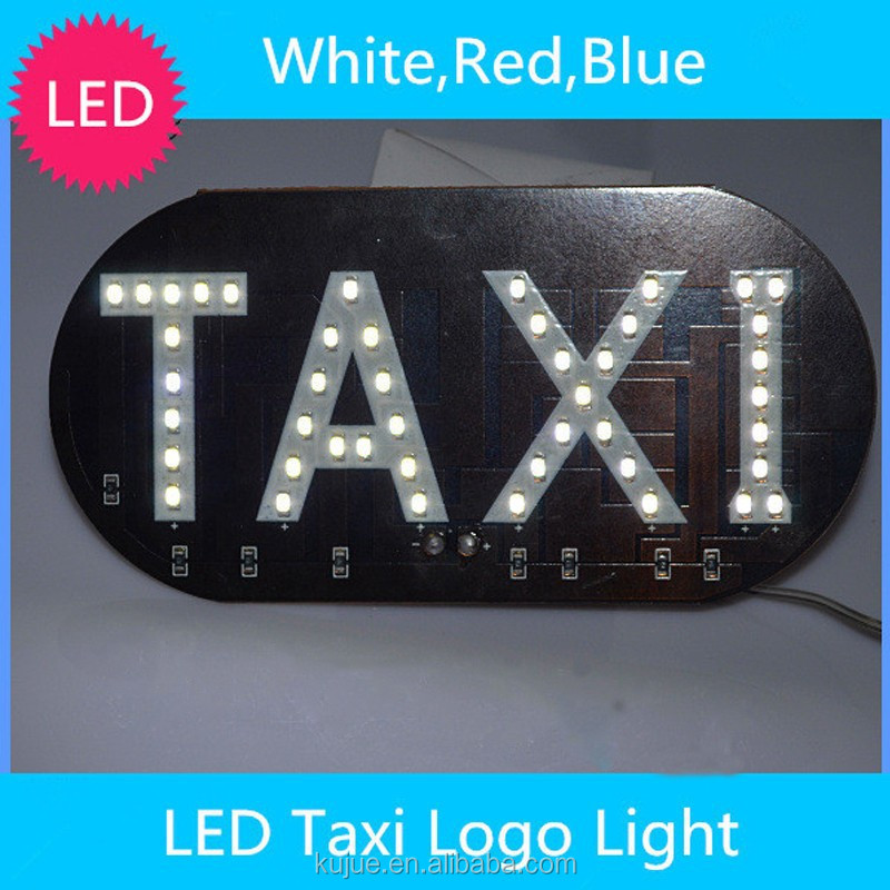 Waterproof Design License Plate Light LED Taxi Top Light Taxi Board Light