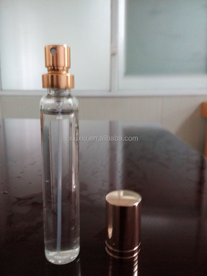 new style cosmetic 15ml 20ml 30ml Empty Atomizer Spray Perfume Glass Bottle with Gold or Silver Cap.