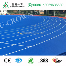 IAAF Approved Athletic Rubber Running Track Professional Manufacturer With 14 years Experience