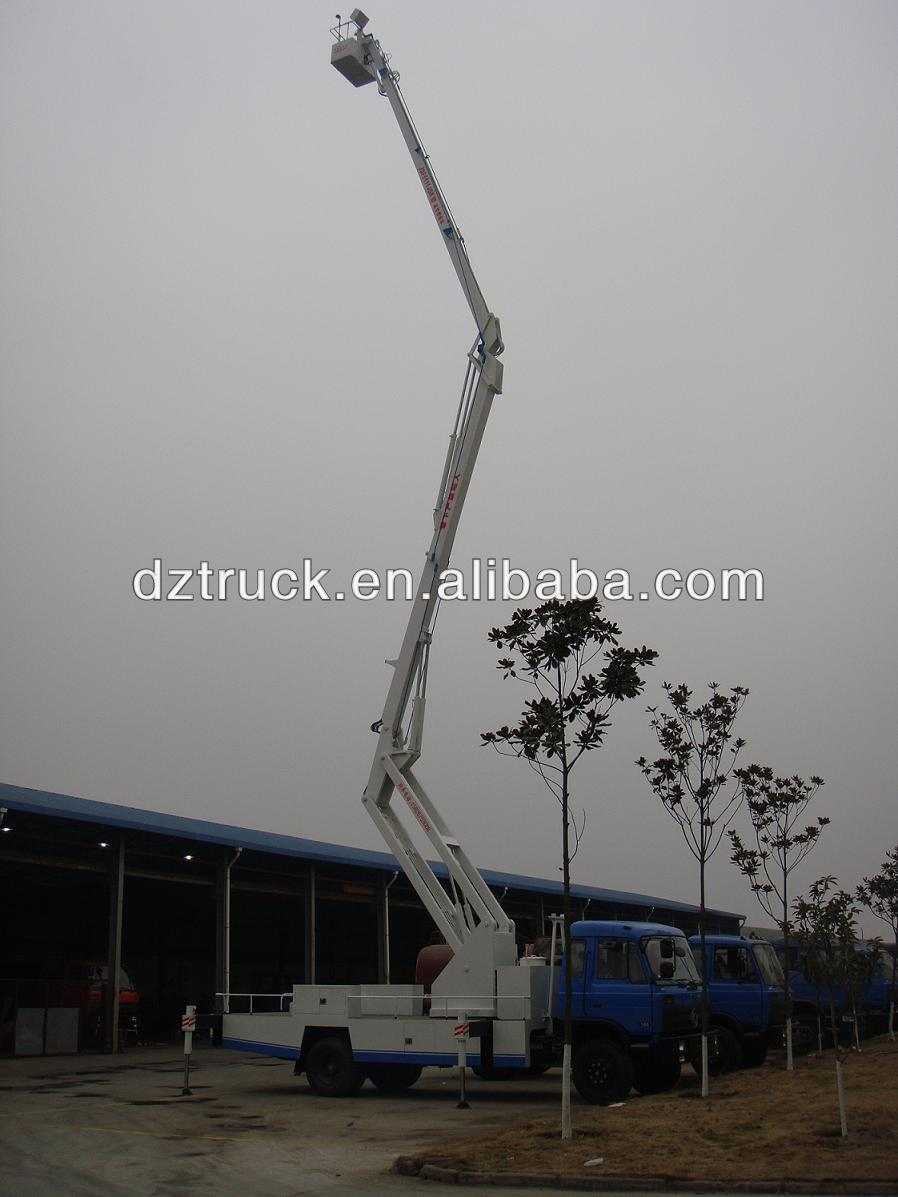 Dongfeng 145 5 knuckle arms 4*2 aerial platform truck