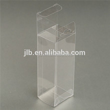 custom PVC and PET small clear flat plastic boxes for retail