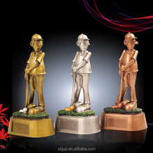 Resin golfer figurines,funny golf statue trophy awards