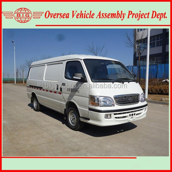 4.92-5.35 Meter Long Diesel Fuel Driven Hiace Type PANEL VANS For Passenger & Cargo Transportation