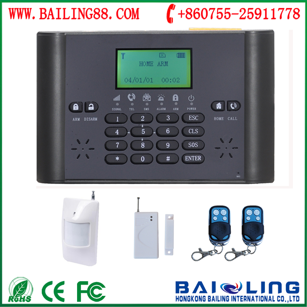 high quality gsm frequency 850/900/1800/1900mhz wireless alarm with lcd,number keypad--bl6000g