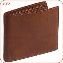 Wholesale natural pebble man leather wallet