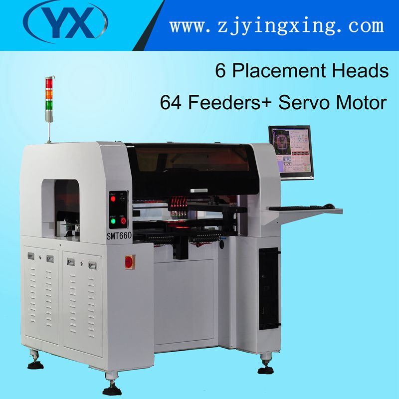 New Condition Machinery Pick and Place Machine 6 Heads SMT660 With Servo Motor Online After-sales Service Provided