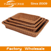 Hot Selling Wholesale High Quality Natural Handmade Decorative Cheap Wicker Bread Display Basket