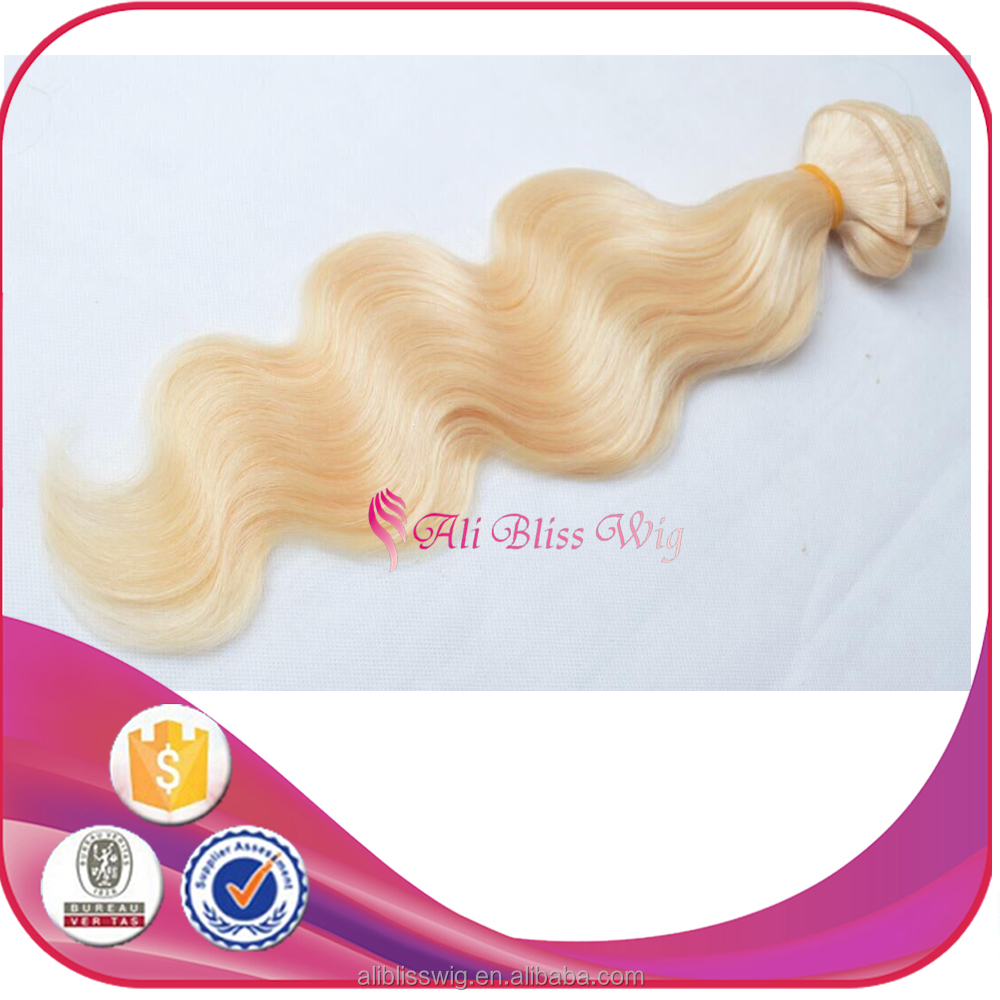 Wholesale Fast Shipping Cheap 613 Platinum Blonde Body Wave Brazilian Virgin Remy Human Hair Extension for White Women