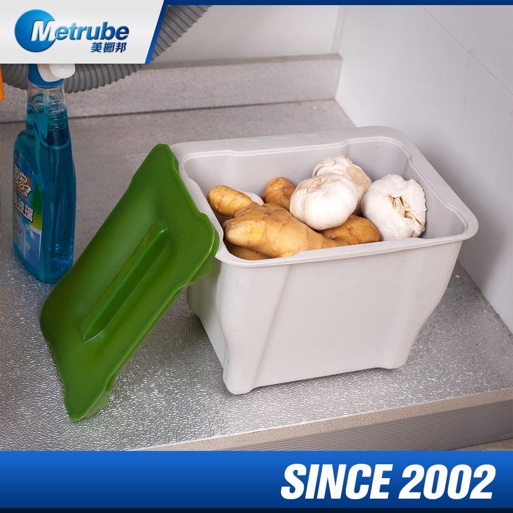 Plastic Small Rectangle Kitchen Trash Can cabinet bins