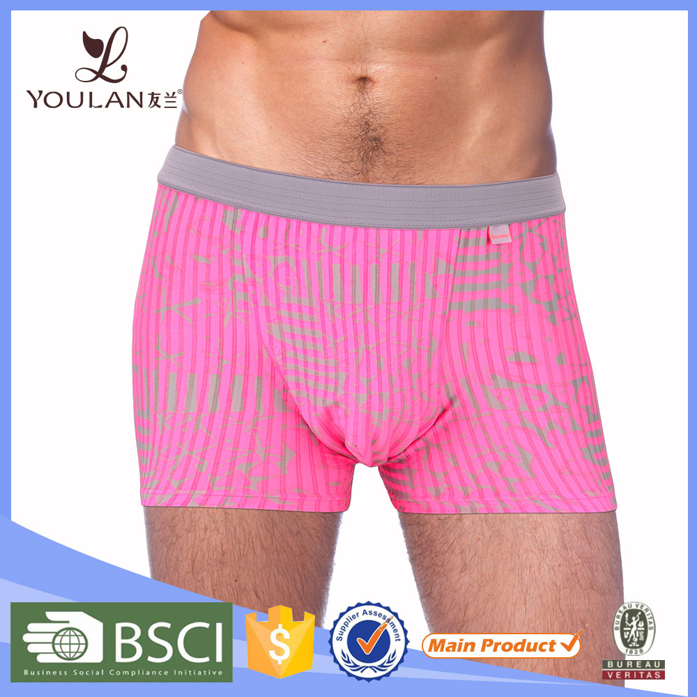 China Factory Popular Customized Materials Dropping Shipping Front Open Mens Underwear Boxer