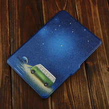 Rich Color Bus Painting PU+PC Case For Kindle Paperwhite