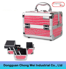 Professional Beauty Box Make Up Vanity Case aluminum Cosmetic Case