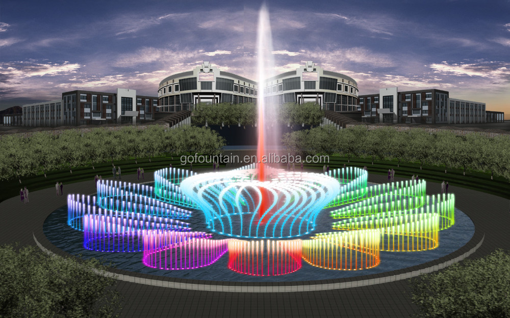 Round Shape Modern Garden Water Fountain Design