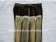 2016 Best Quality & Best Price Indian Remy clip on hair extension in stock