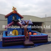 Festival Decoration Inflatable Witch Bouncer House/Inflatable Halloween Game For Carnival