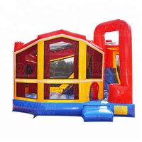 Backyard Module 5 In 1 inflatable bouncer jumper bounce house, inflatable jumping castle moonwalk with slide combo for sale