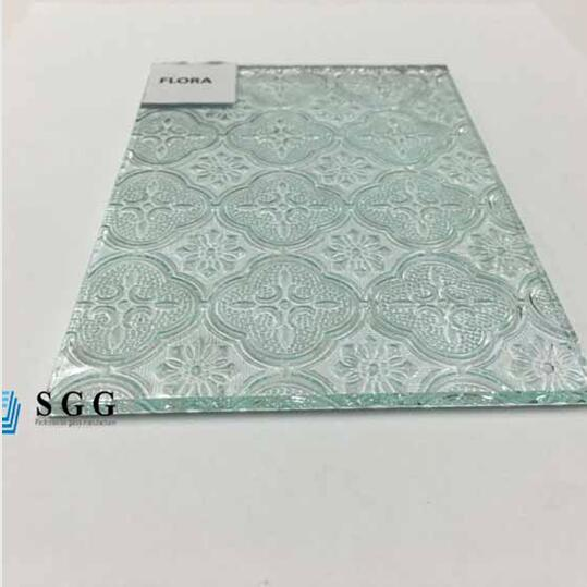 Shenzhen Factory 5mm flora figured glass window,patterned glass shower room