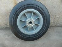"hand trolley 8"" solid tyre hard rubber wheel"
