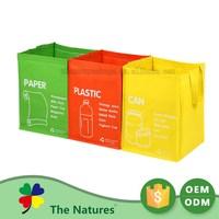 Exceptional Quality 3 Bag Set Garbage Jumbo Bags Yellow Bag Fabric