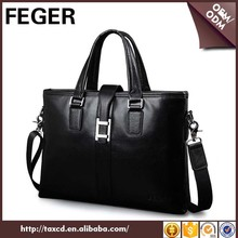 Drop shipping branded laptop bag leather business bag briefcase for man