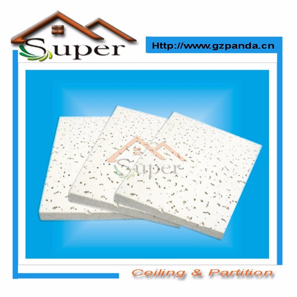 China 60x60 cm Fire Rated Mineral Fiber Acoustic Ceiling Tiles