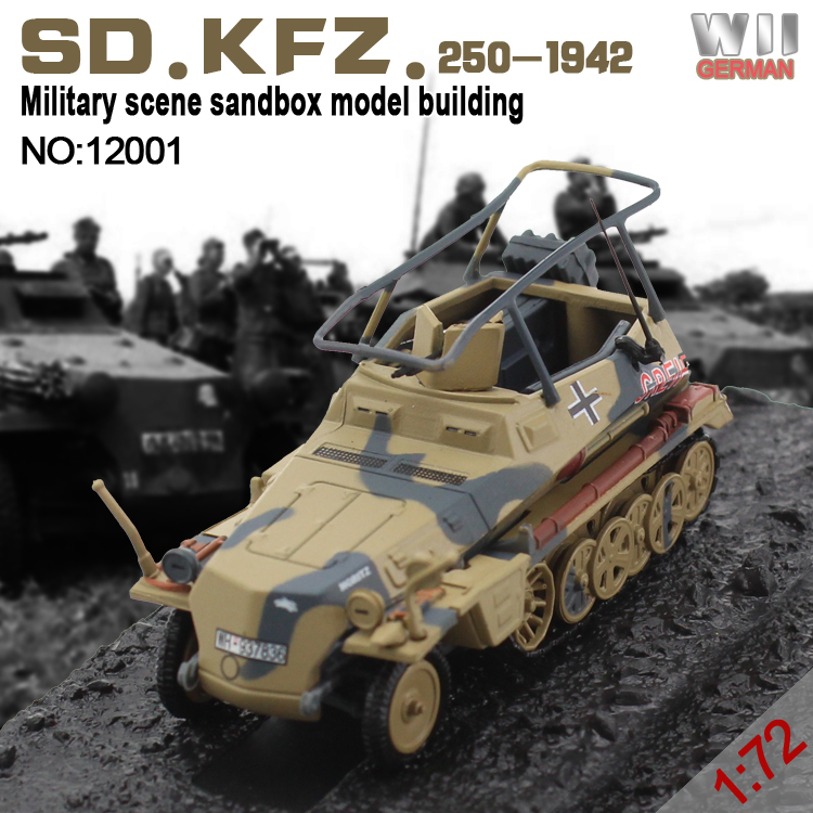 stock wholesales 1:72 scale SD.KFZ.250-WWII 1942 tank die cast car models for collection