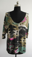All over print ladies latest new style sweater