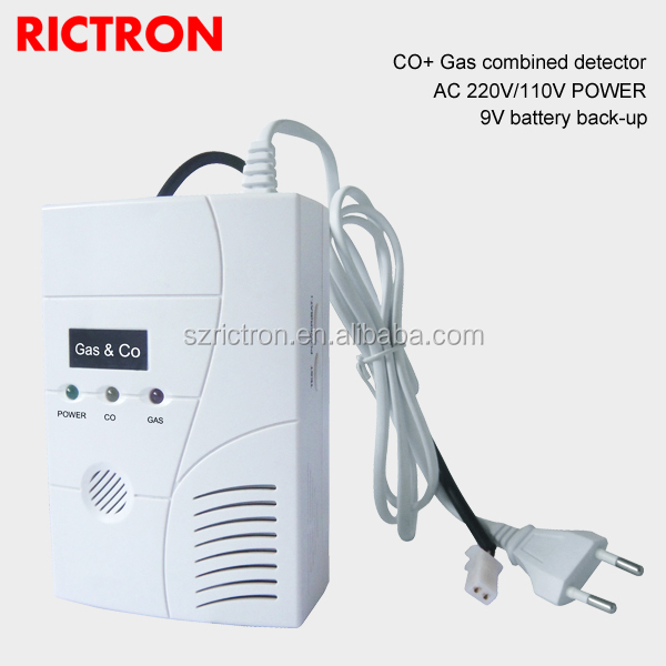 Combo Carbon Monoxide and Gas Detector Alarm with Solenoid Valve