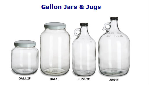 1000ml 2000ml 3000ml 4000ml 5000ml Jug - Clear Gallon Glass Jug with Blk Plastic Lid