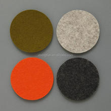 Non woven fabric laser cut no sewing felt coasters