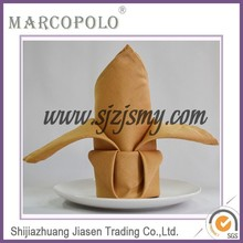 cheap wedding napkin/good quality hotel polyester dining table napkin folding