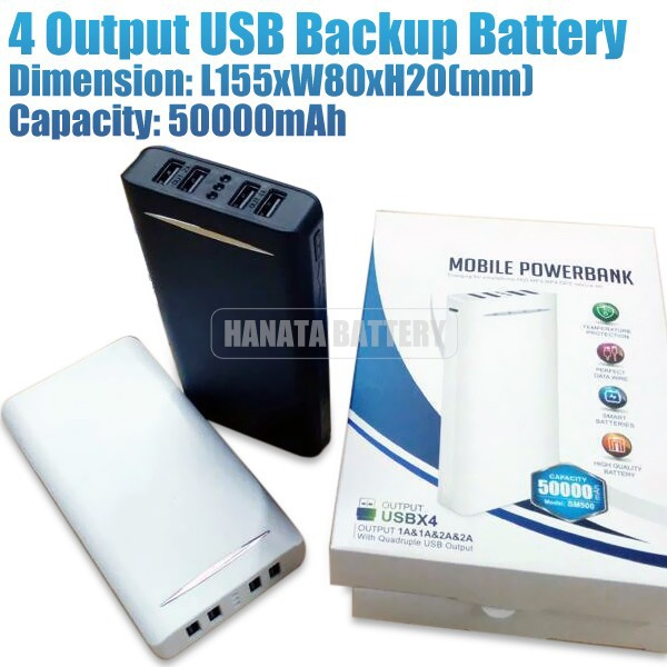 50000mah Portable USB Backup Battery Power Bank External Battery Charger for Apple iPhone iPad HTC Samsung Nokia Mobile Phone