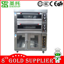 Shentop STPL-J12F24 bread oven with Proofer bakery equipment in china bread fermentation machine electrical 4 deck oven