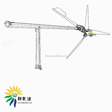 2018 Tilting up tower for wind turbine, wind turbine folding tower/pole 6m-15m for 500w-5kw wind power generator