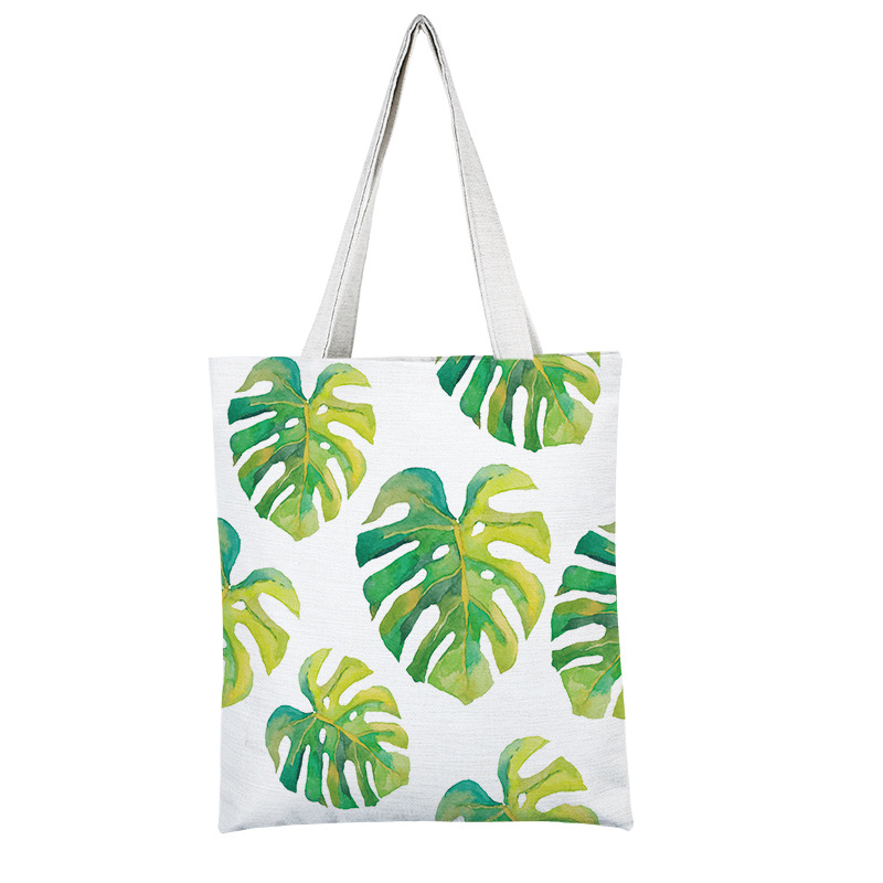 Tropical standard size canvas tote bag shopping cotton thick canvas tote bag <strong>promotion</strong>
