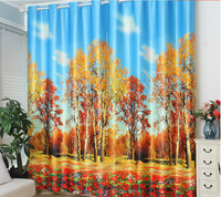 3d blackout curtain fabric for printing machine