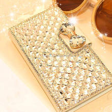 Universal Luxury Bling Bowknot Crystal Diamond Wallet Phone Case Cover Christmas Stocking for samsung for HTC for iphone
