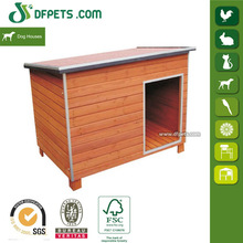 "46"" Large Chicken Coop Wood Dog House Flat Roof New DFD007"