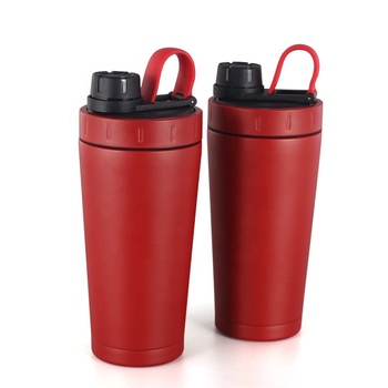 Wholesale 700ml double wall stainless steel  protein shaker mixer bottle