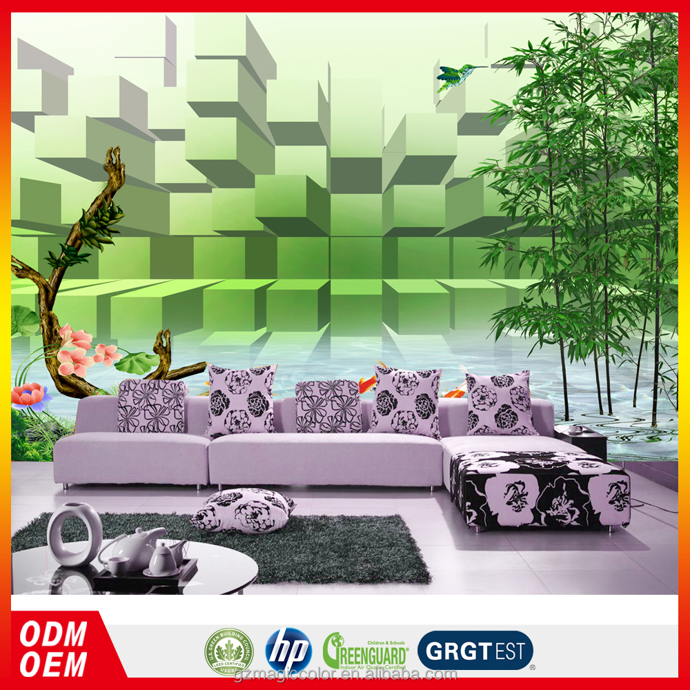 fantasy forest landscape design wallpaper printing murals 3d nature bamboo wallpaper for interior wall