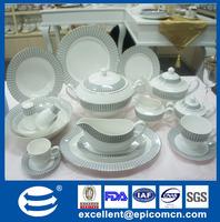 China supplier pakistan porcelain 128pcs antique dinner set ceramic