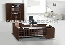 HAIJING 40# office all MDF double level tradition veneer coffee table