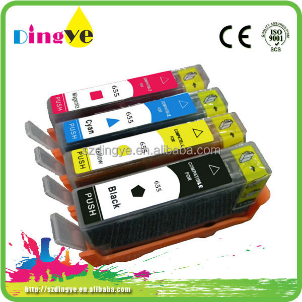 Factroy wholesale for hp 655 670 685 refill ink cartridge for hp deskjet 3525 4615 4625