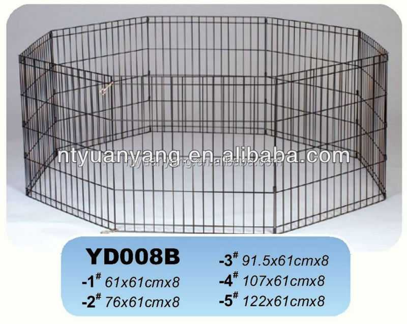 Outdoor eight panels metal wire pet enclosure