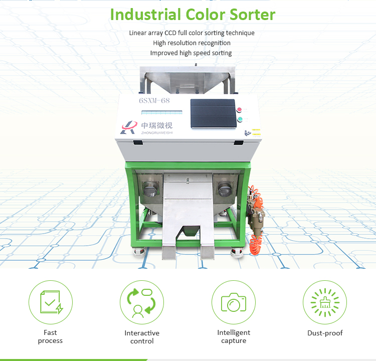 Excellent Quality Electronic Large Plastic Flakes Color Sorter For Sale by manufacturer
