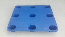 2017 hot sale 4-way entry type blow modling HDPE plastic pallet