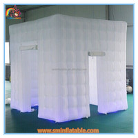 Factory price inflatable photo booth with led light,white photo booth tent,used photo booth cheap prices for sale